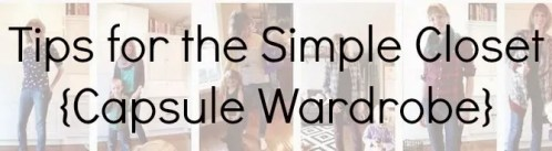 tips for a capsule minimalist wardrobe