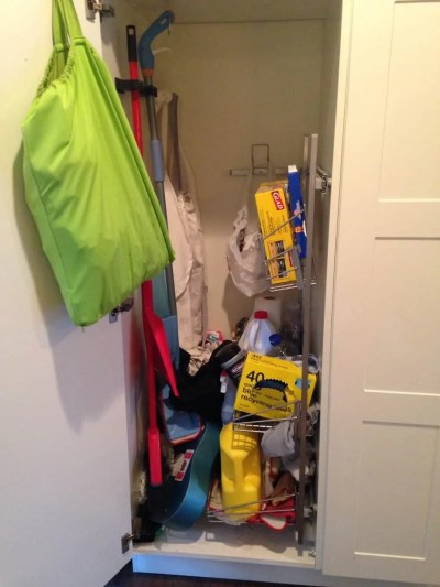the cleaning cupboard