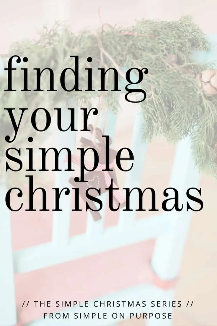 Finding Your Simple Christmas