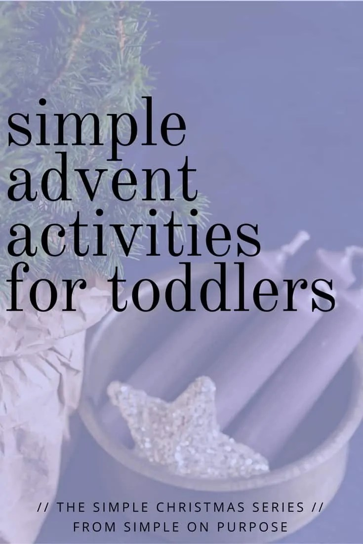 simple toddler advent