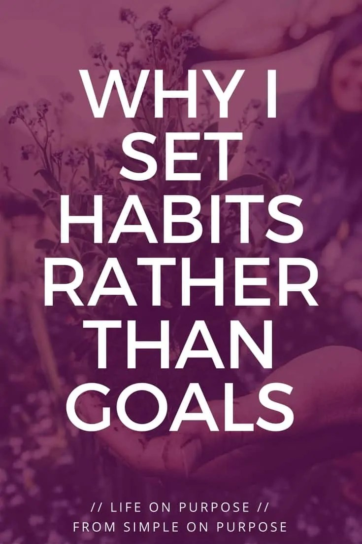 Why I Set Habits Rather Than Goals