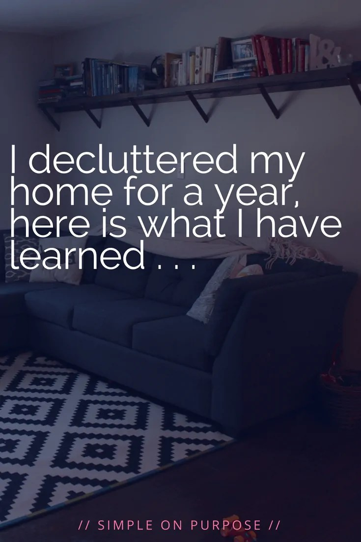 decluttered home for a year