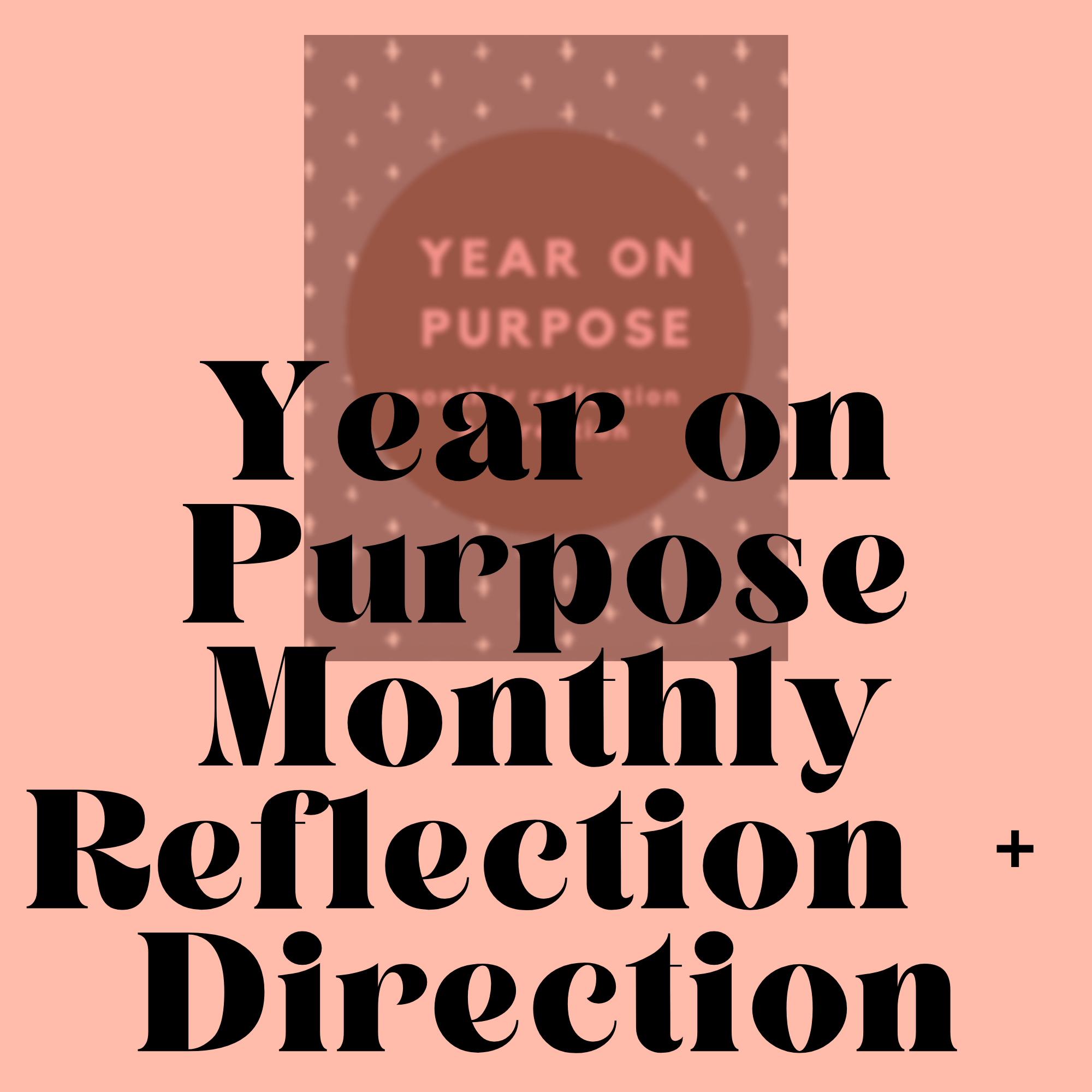 Monthly Worksheet For Life On Purpose Simple On Purpose