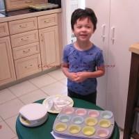 Whole Grain Pandan Butter Cupcakes