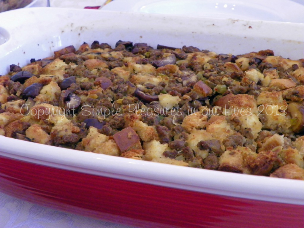 Sausage and Chestnut Dressing