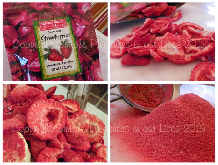 Grind the strawberries in a food processor until fine. Sieve.