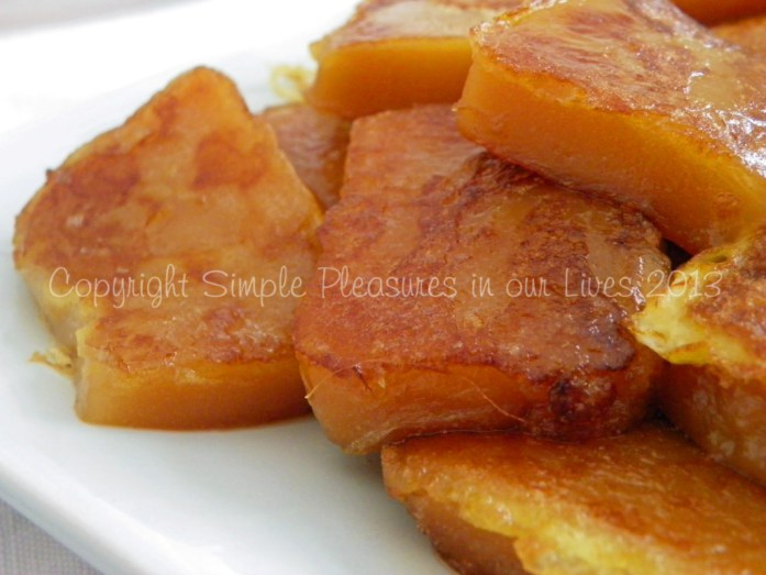 Pan-fry until soft and golden brown -delicious!