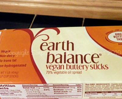 Vegan substitute for butter