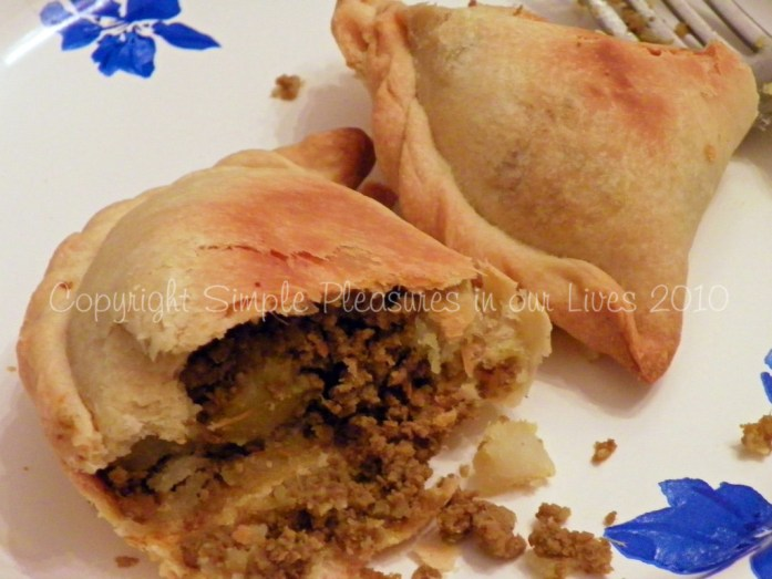Mmmmm…..delicious, spicy filling encased in crispy, buttery pastry
