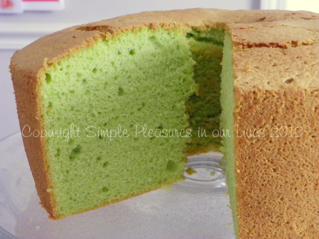 Pandan Chiffon Cake Made With Homemade Pandan Paste