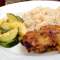 Grilled Turmeric Chicken and Nasi Lemak (Coconut Rice)