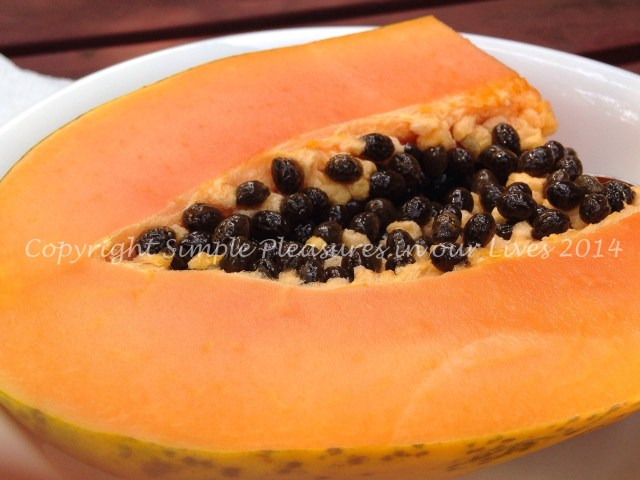 Papaya was nice and ripe