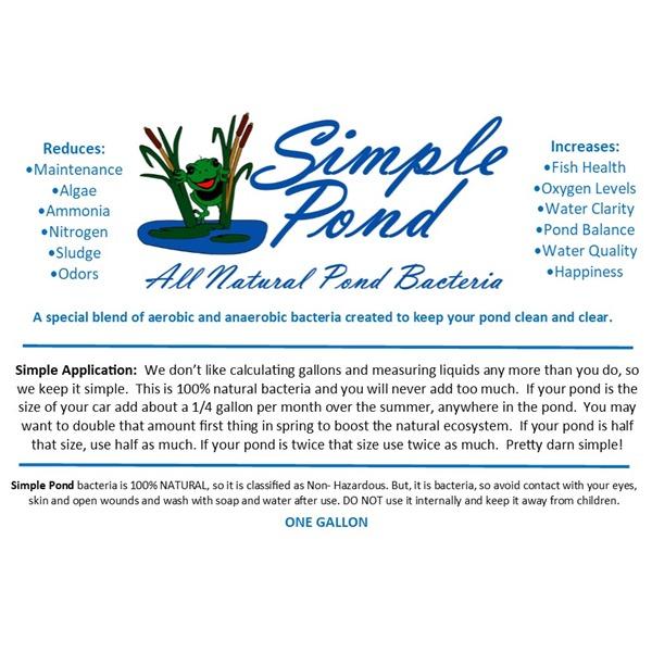 Simple Pond Bacteria Label