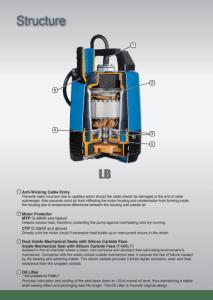 Tsurumi LB pump Cross Section