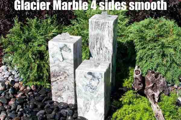 glacier marble 4 sides smooth