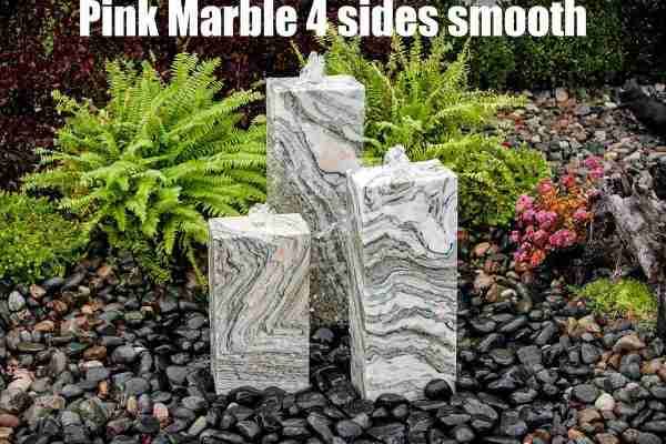 pink marble 4 sides smooth