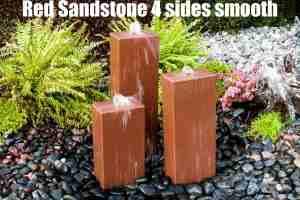 red sandstone 4 sides smooth