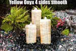 yellow onyx 4 sides smooth