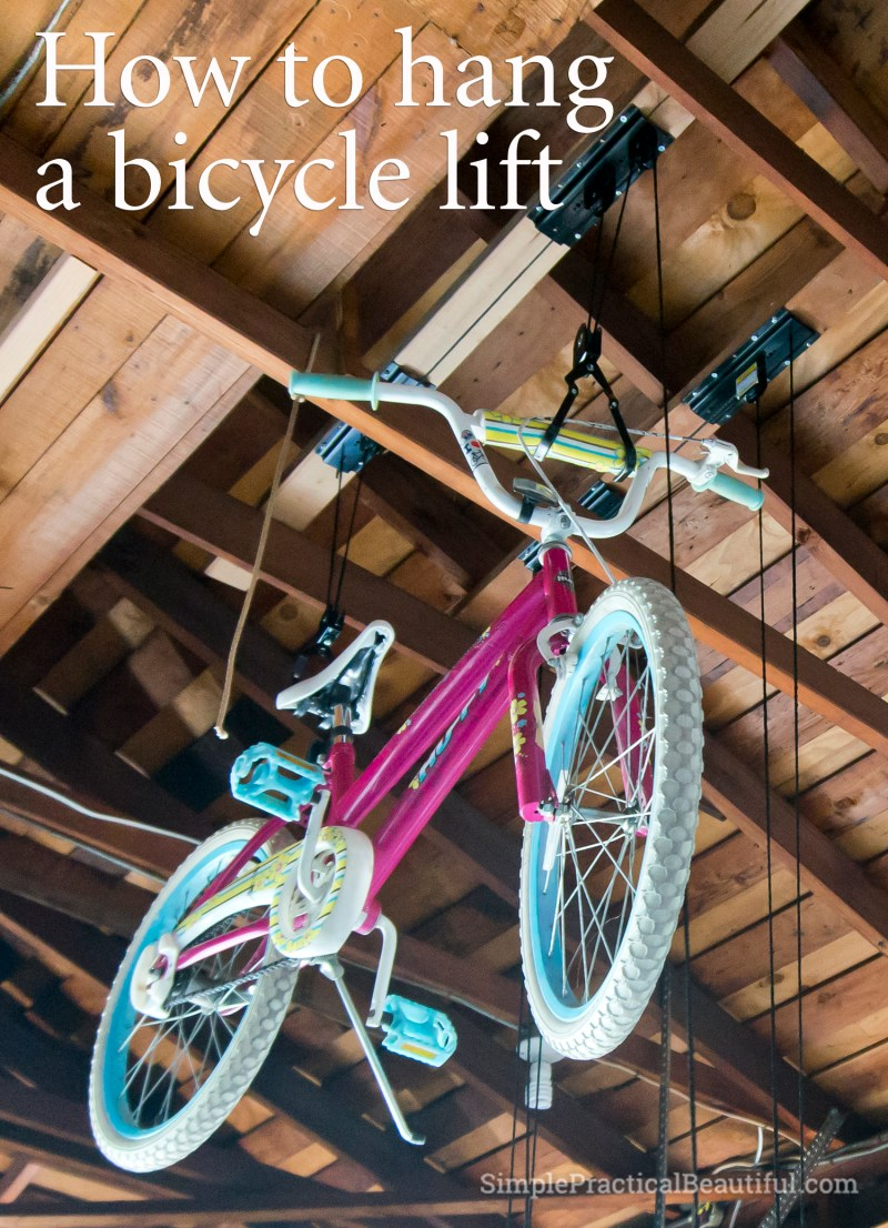 How to hang a bicycle lift