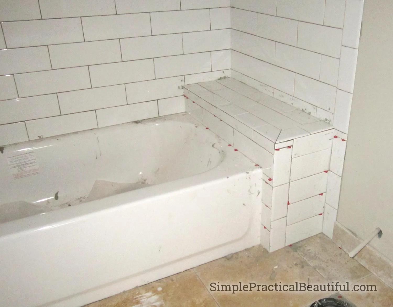 bathtub tile surrounds simple