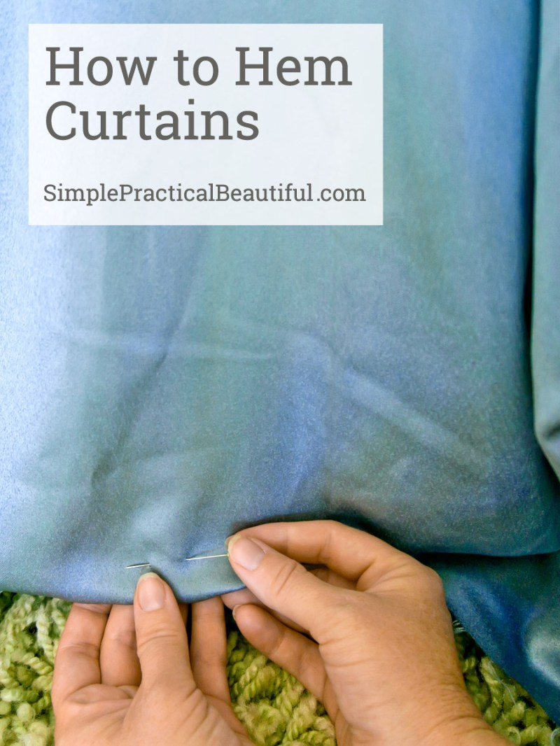A video  tutorial showing how to hem your curtains to exactly the right length. You don't even need to take your curtains down!