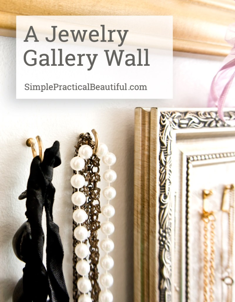 Decorate your walls with jewelry. Beautiful decor and storage solution all in one.