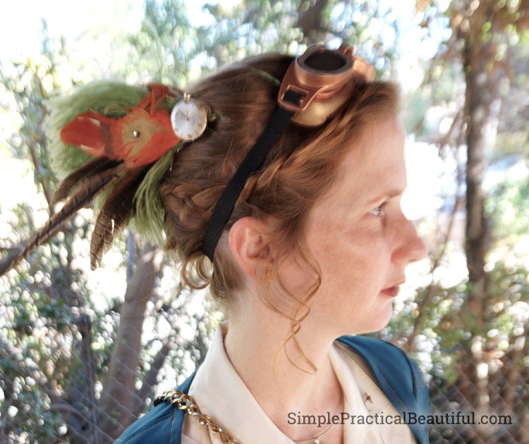 Steampunk Costume hairpiece
