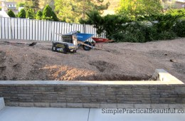 How to build a small retaining wall