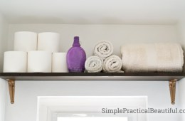 A bathroom storage shelf for all those necessities
