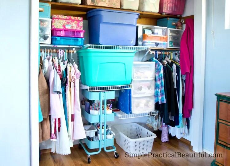 Tween closet redesign