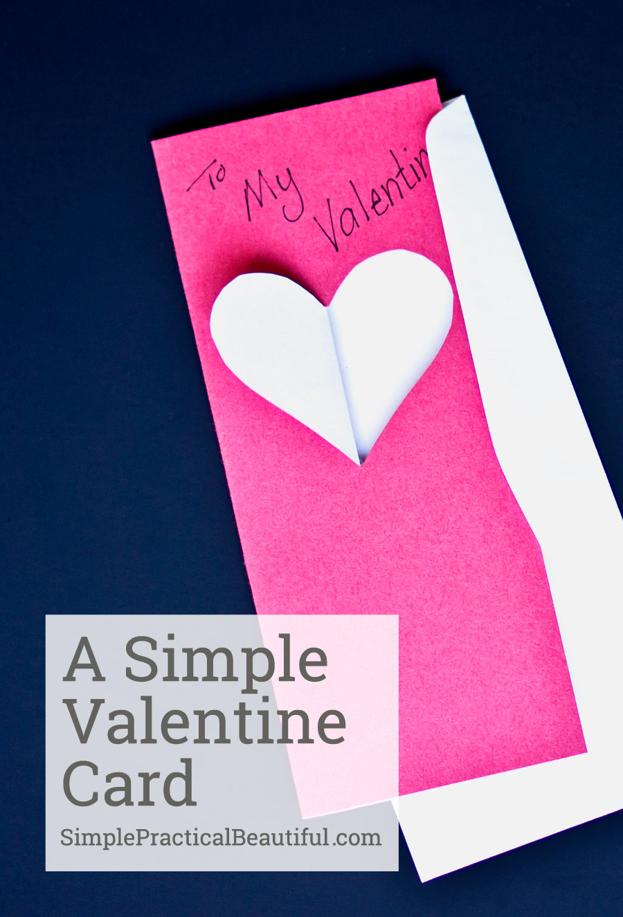 A Simple Valentine Card   Simple Practical Beautiful   How To Make  Valentines Cards