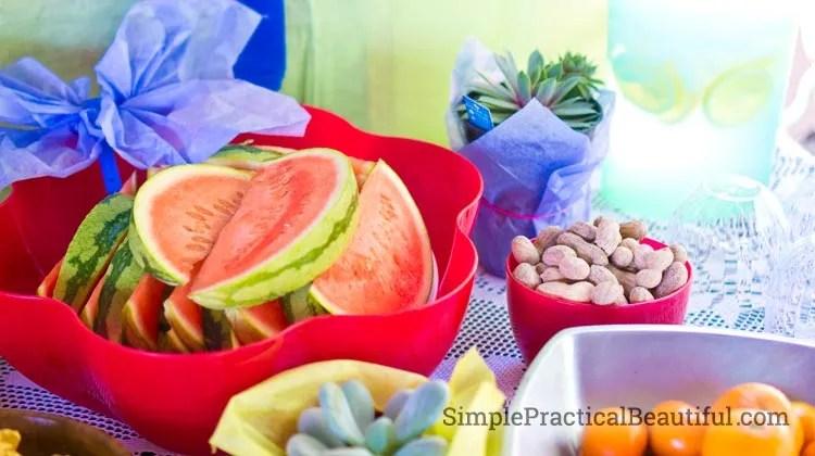 Fairy garden party food