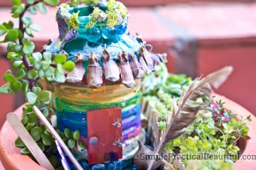 How to make a fairy house from stuff you already have