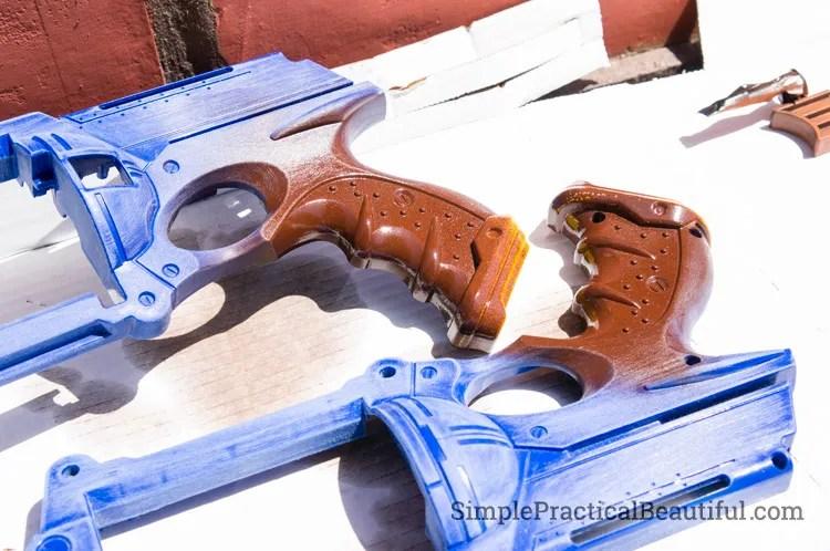 nerf-gun-leather-handle