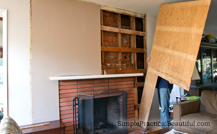 Removing old wood paneling and preparing for dry wall