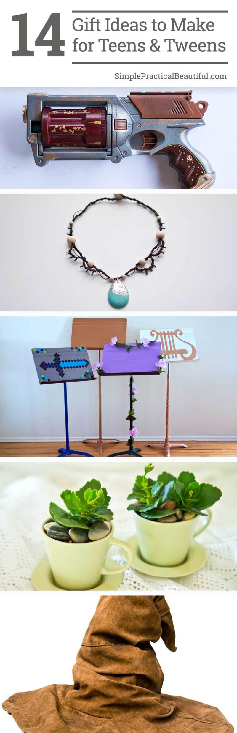 Lots of great DIY gift ideas to make for teen gifts or tween gifts