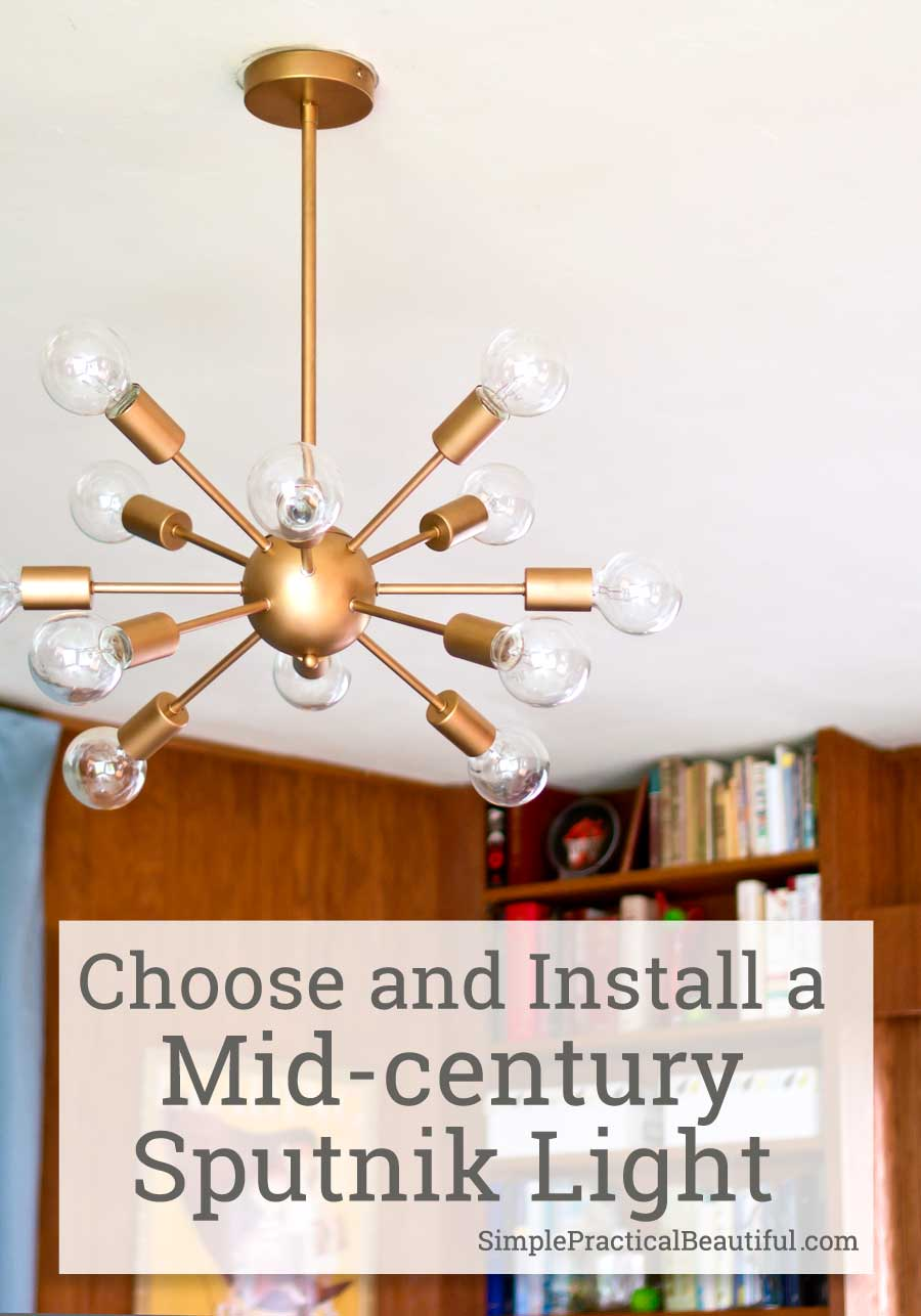 Midcentury Lighting A Sputnik Chandelier Simple Practical
