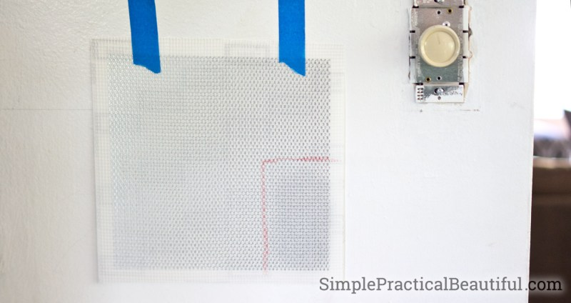 Use a patch kit to repair a medium size hole in the wall