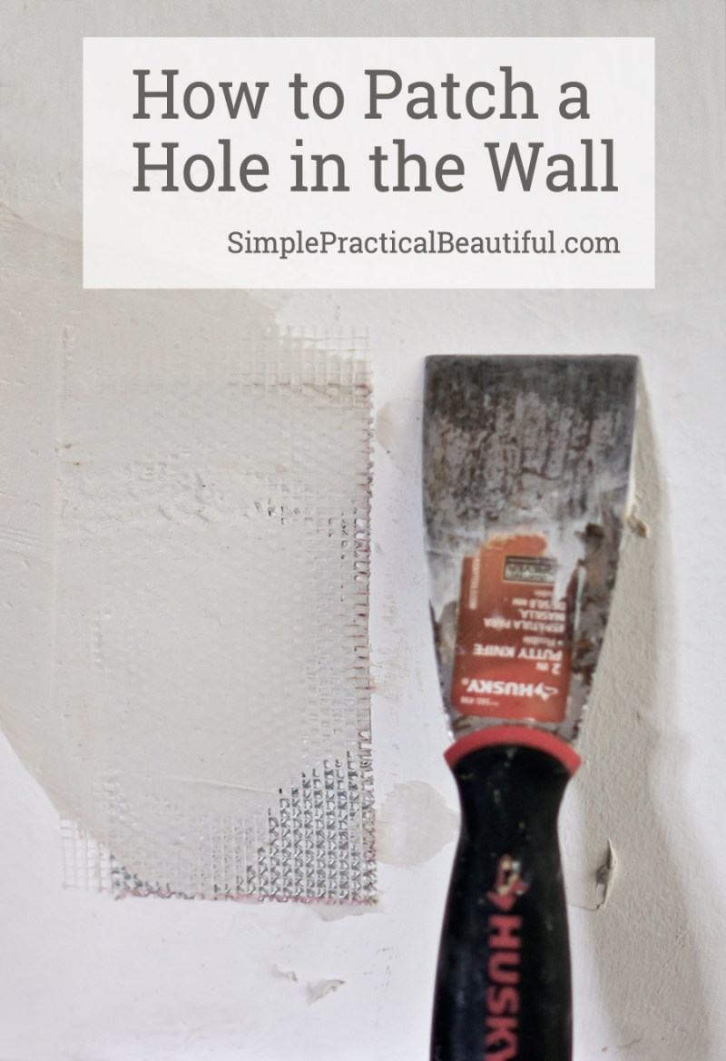 How to patch a hole in the wall   tutorial for any size hole, small or large   easy to follow method for repairing a hole in the wall