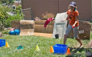 Capture the flag at Camp Half-blood, with water balloons