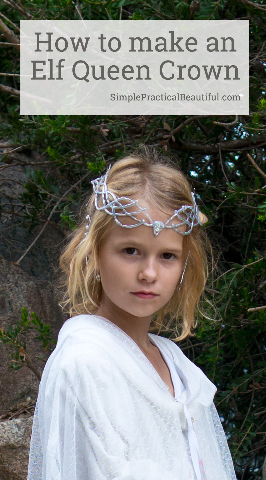 How to make a Galadriel crown with a glue gun that looks like silver | Halloween  sc 1 st  Simple Practical Beautiful & How to Make Galadrielu0027s Crown - Simple Practical Beautiful
