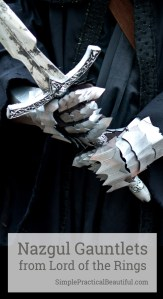 How to make DIY Nazgul gloves for your Lord of the Rings costume or cosplay | Costume glove | foam gloves made to look like metal for a Halloween costume
