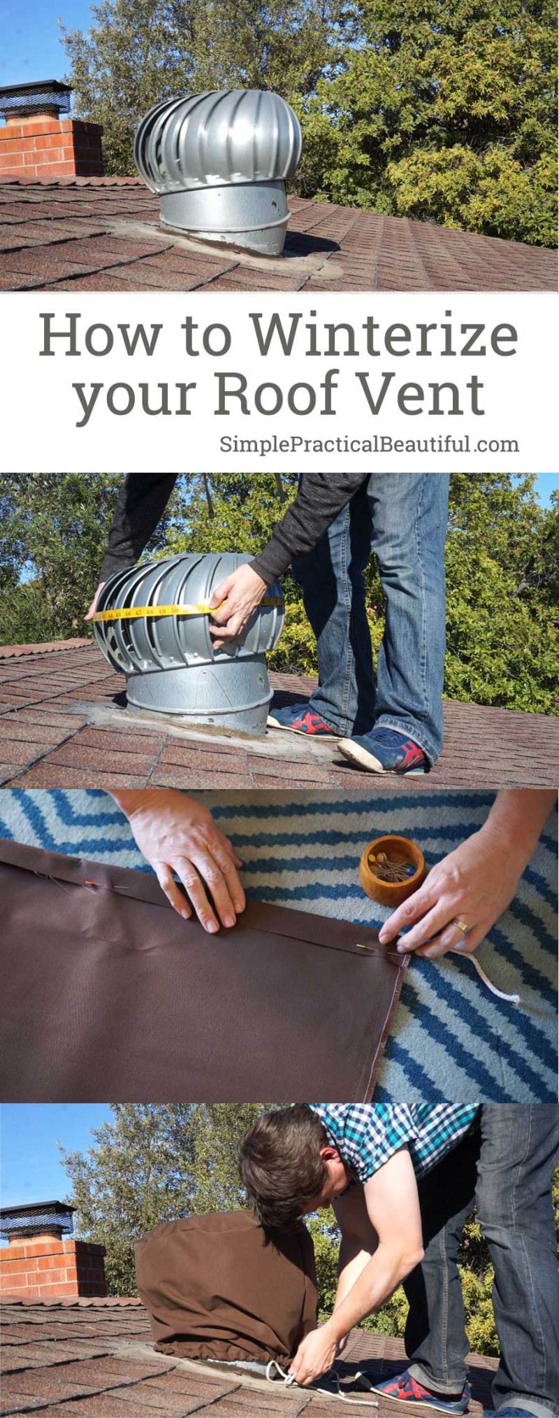 Winterize your roof by making a DIY roof vent cover for your whirlybird vent   How to make a roof vent cover video tutorial
