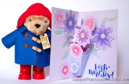 Pop-up card inspired by the Paddington 2 movie and its pop-up book