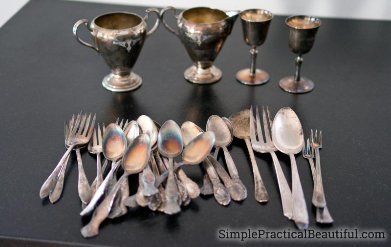 Lot of silver flatware and silver candlesticks and silver tea pieces that are too much to polish