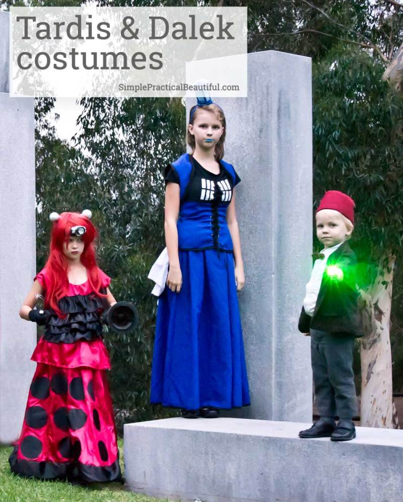 Make DIY TARDIS and Dalek costumes from Dr. Who with a Simplicity pattern and a few alterations