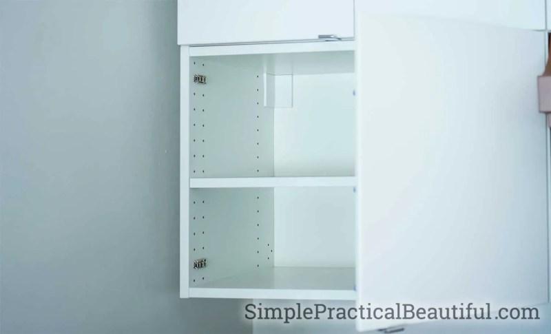 A Veddinge IKEA cabinet before altering