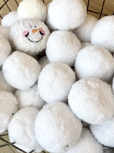 indoor plush snowballs