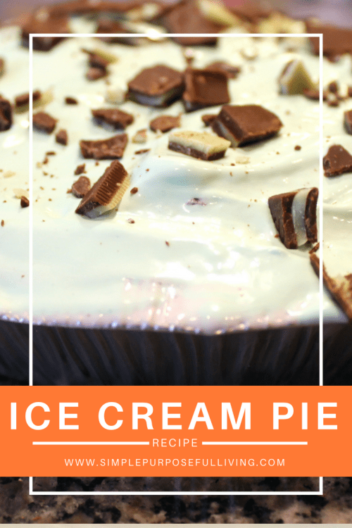 ice cream pie recipe Pinterest pin image