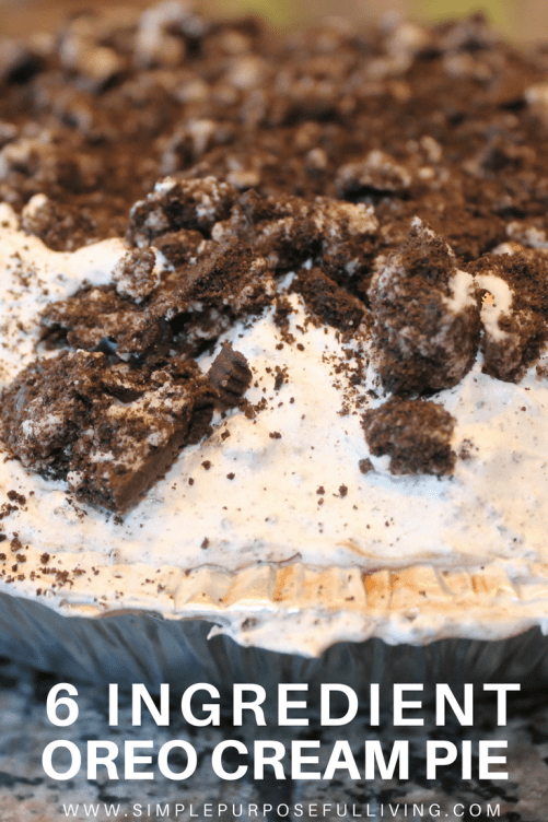 oreo crumbs topped whipped cream pie Pinterest pin